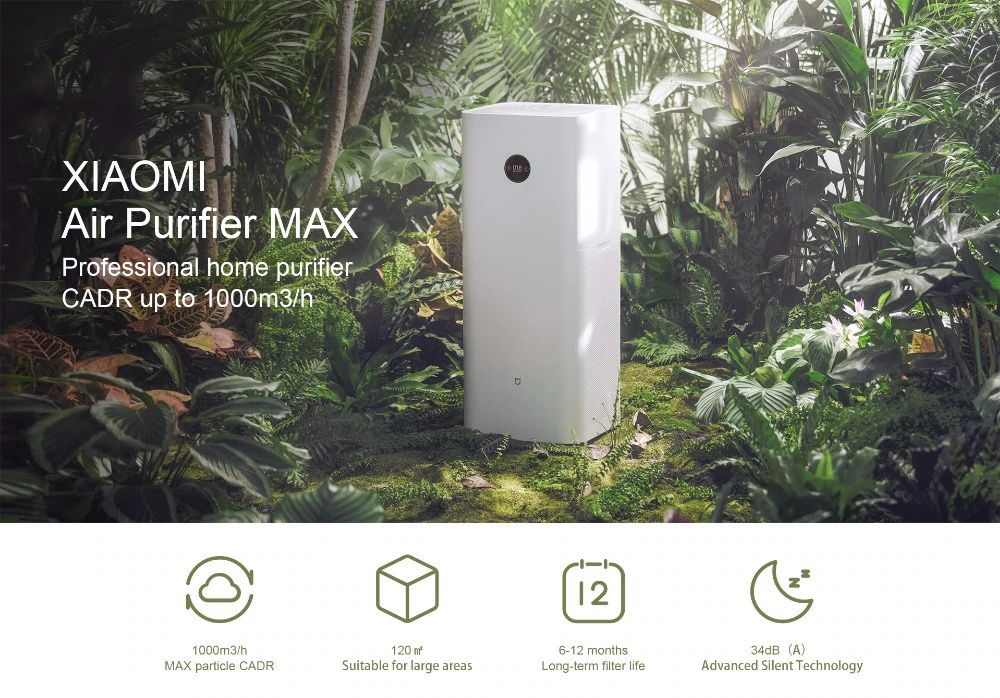 Xiaomi Mi Air Purifier Max With App Remote Control (3)