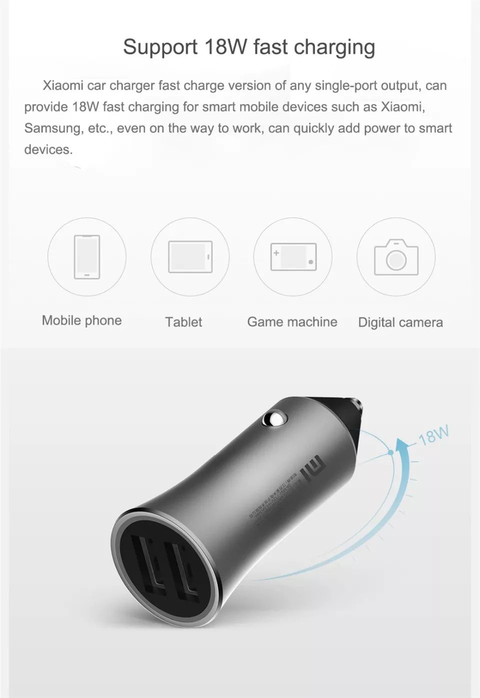 Xiaomi Mi Car Charger Pro 18w Dual Usb Fast Charge (1)