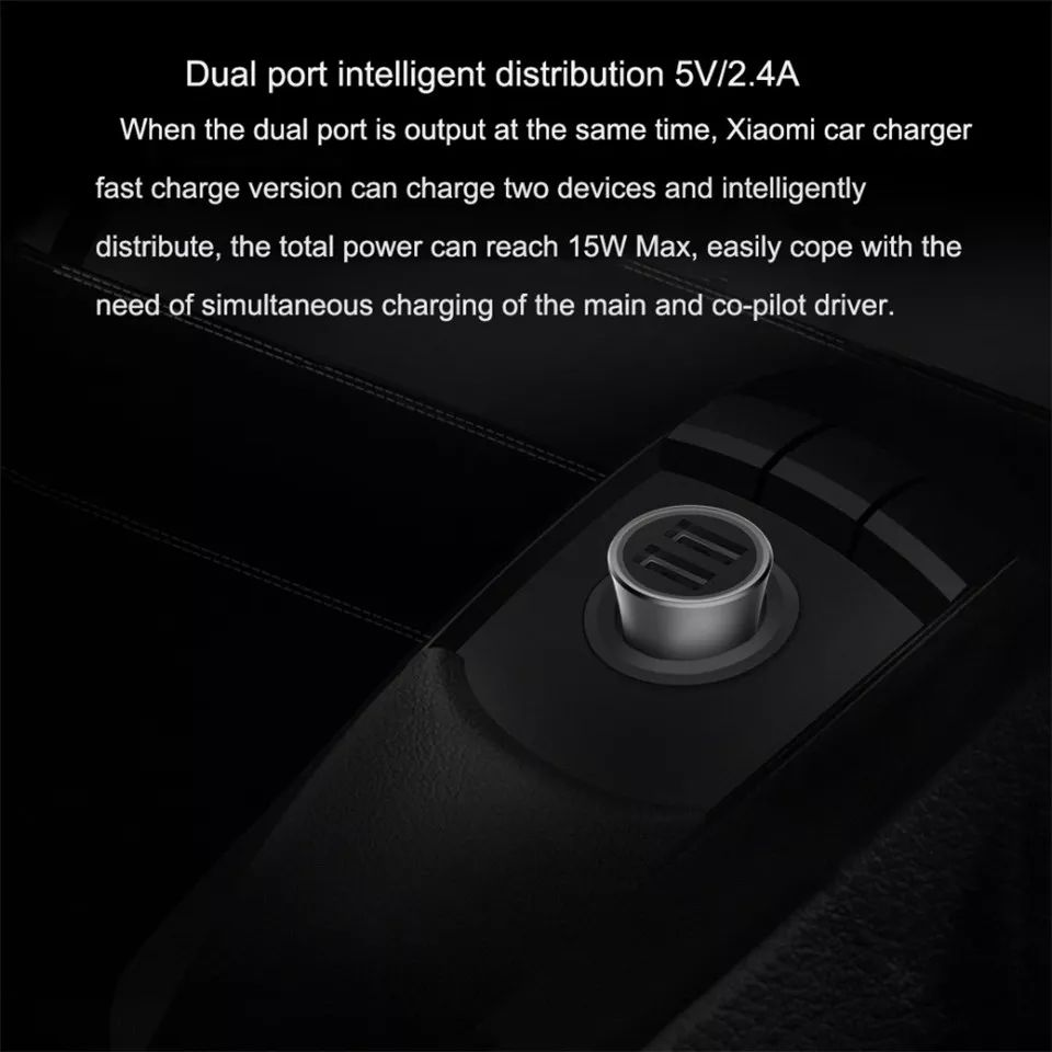 Xiaomi Mi Car Charger Pro 18w Dual Usb Fast Charge (4)