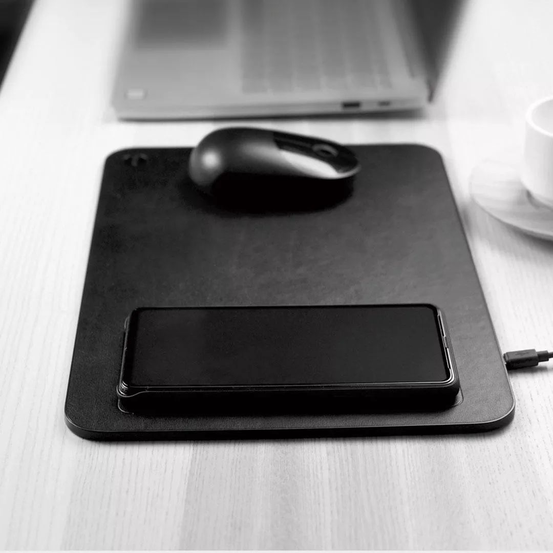Xiaomi Miiiw Qi Wireless Charger Pu Leather Mouse Pad (4)