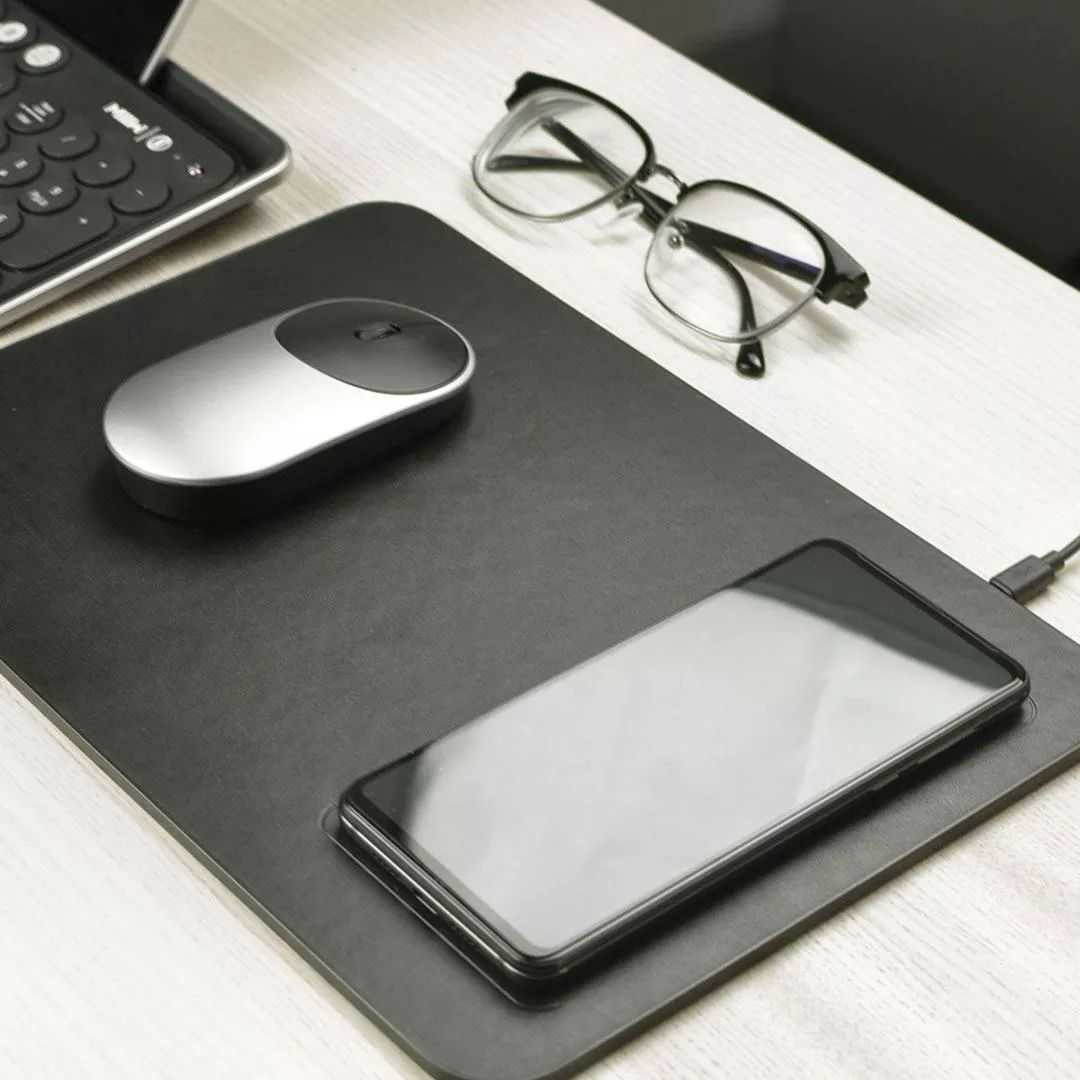 Xiaomi Miiiw Qi Wireless Charger Pu Leather Mouse Pad (5)