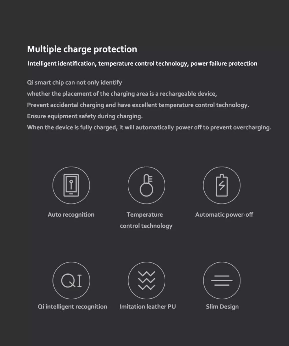 Xiaomi Miiiw Qi Wireless Charger Pu Leather Mouse Pad (7)
