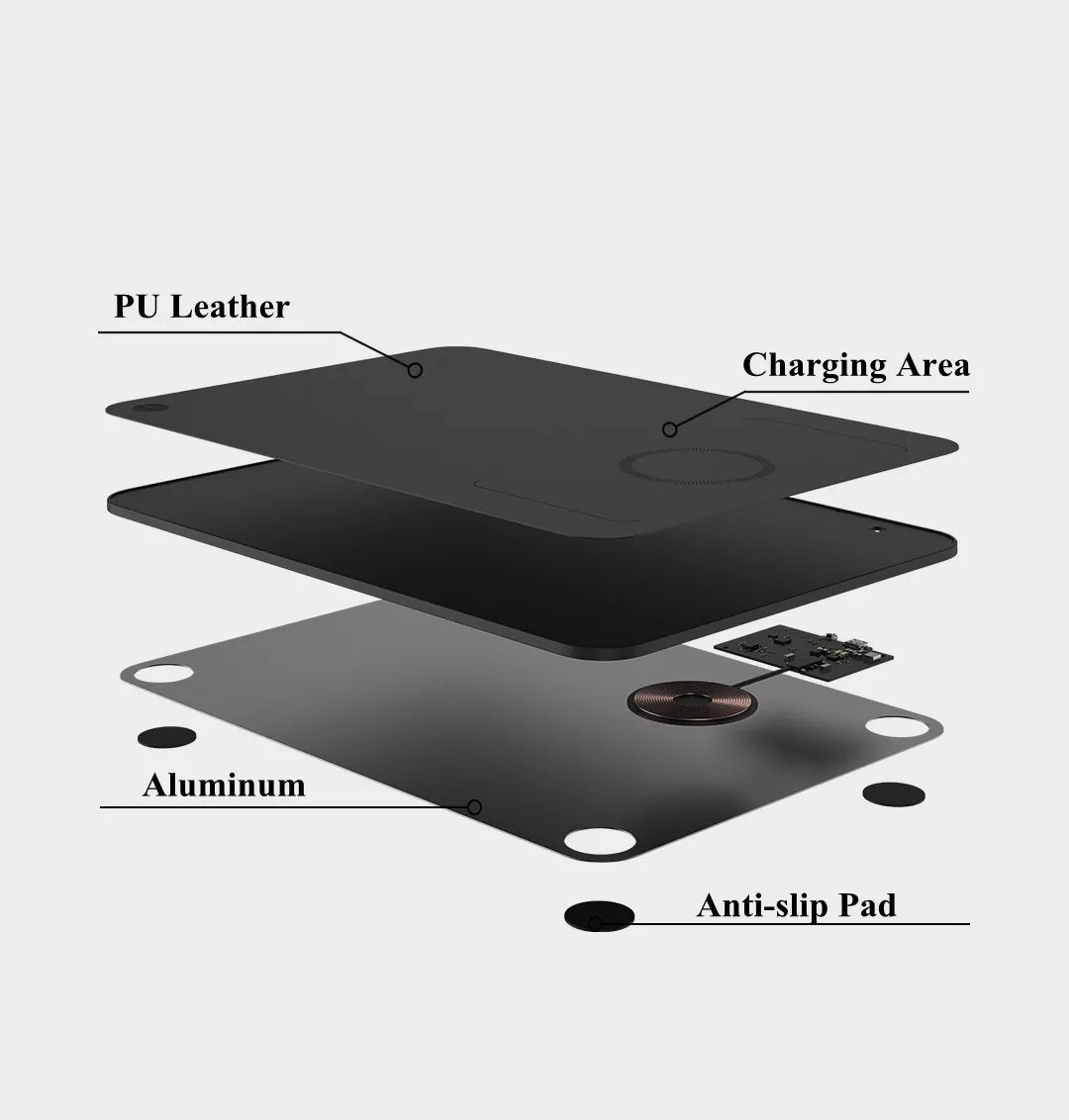 Xiaomi Miiiw Qi Wireless Charger Pu Leather Mouse Pad (8)