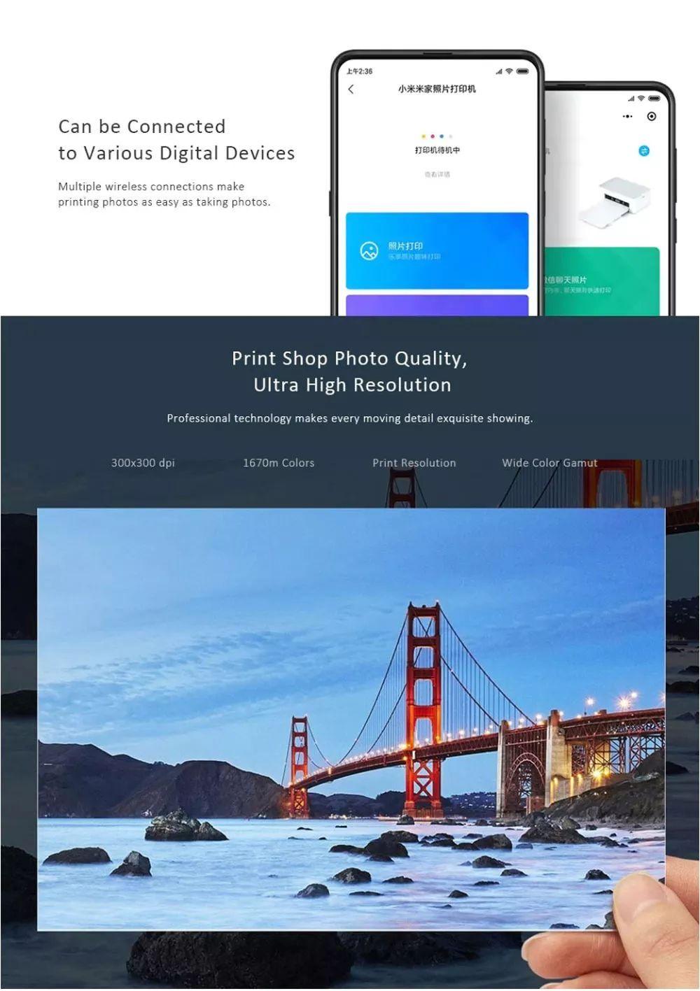 Xiaomi Mijia Smart Portable Wireless 6 Inch Photo Printer For Mobile Phone Pc (1)