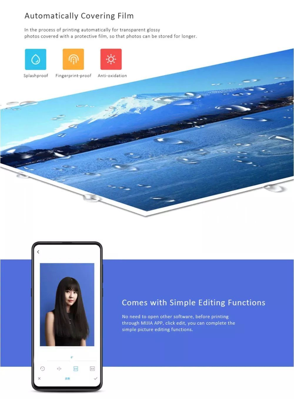 Xiaomi Mijia Smart Portable Wireless 6 Inch Photo Printer For Mobile Phone Pc (3)