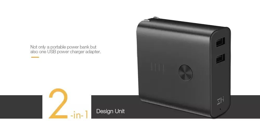 Xiaomi Zmi 2 In1 Qc3 0 Dual Usb Wall Charger With 6500mah Power Bank (8)
