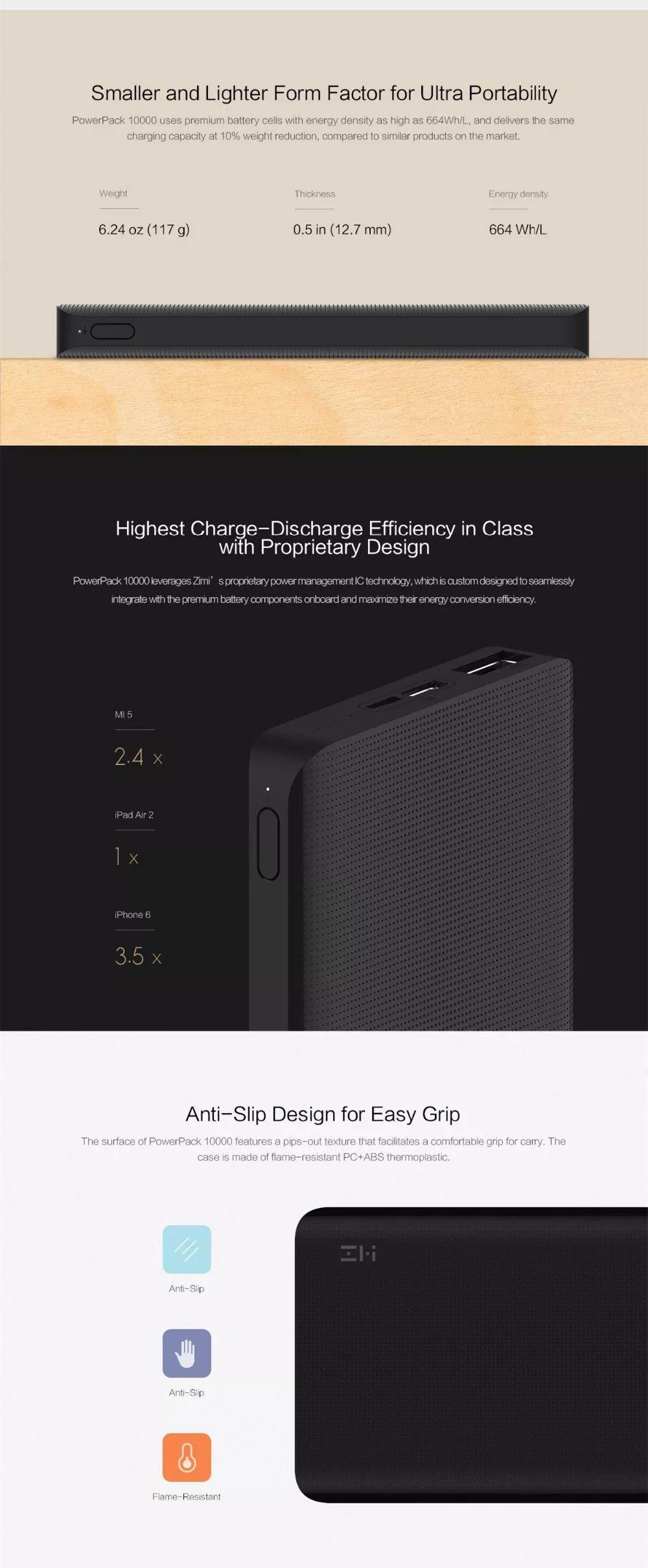 Xiaomi Zmi Qb810 Power Bank 10000mah Type C (1)