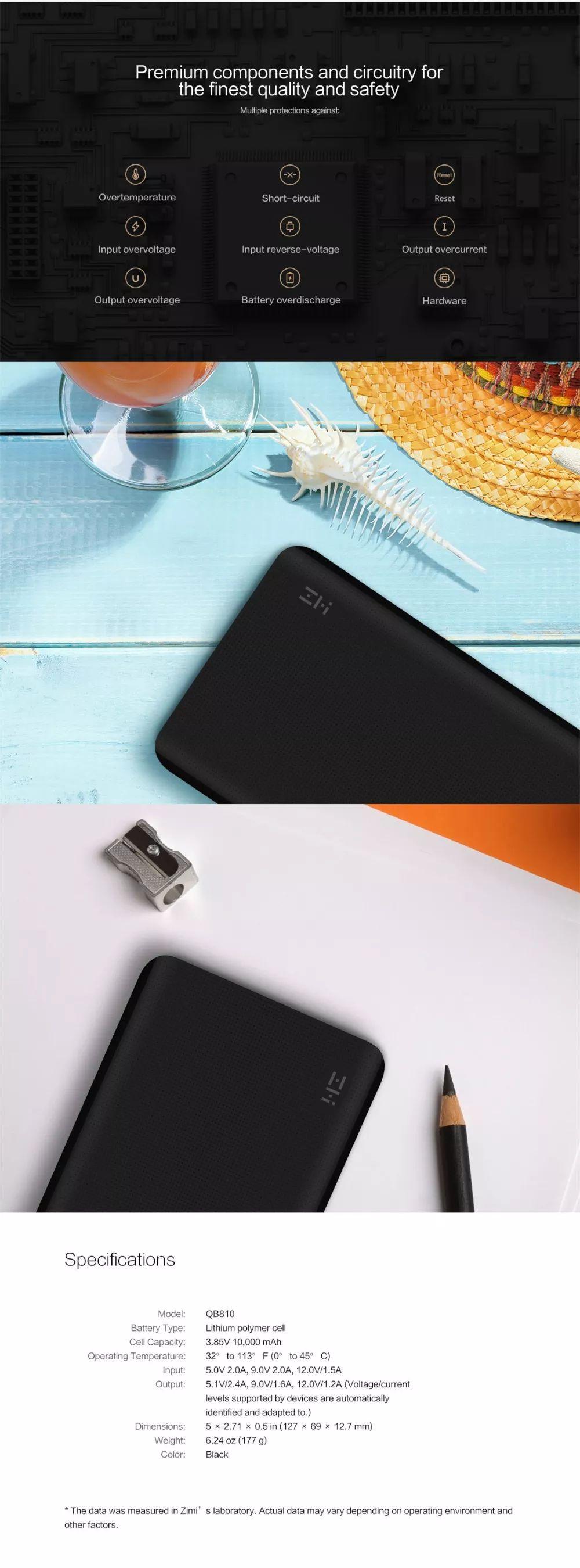 Xiaomi Zmi Qb810 Power Bank 10000mah Type C (3)