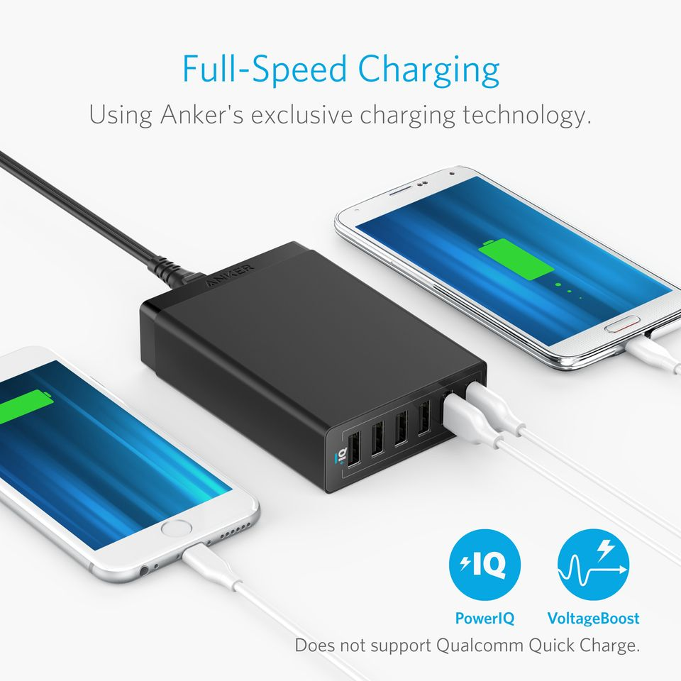 Anker Powerport 60w 6ports Usb Charger (1)