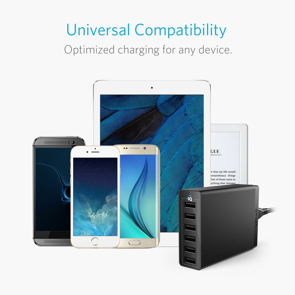 Anker Powerport 60w 6ports Usb Charger (3)