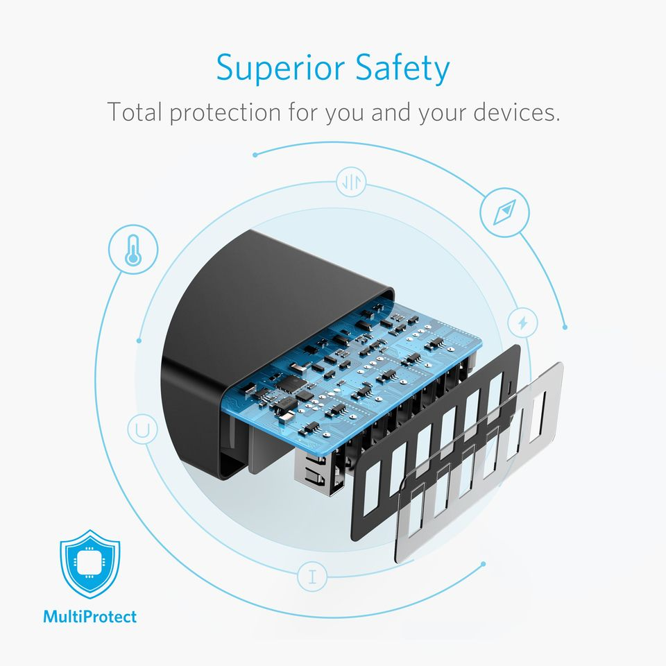 Anker Powerport 60w 6ports Usb Charger (4)