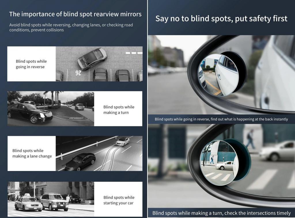 Baseus 2pcs 49mm Car Blind Spot Rearview Mirror (2)