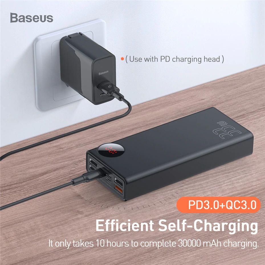Baseus 30000mah Power Bank Dual Quick Charge 3 (2)