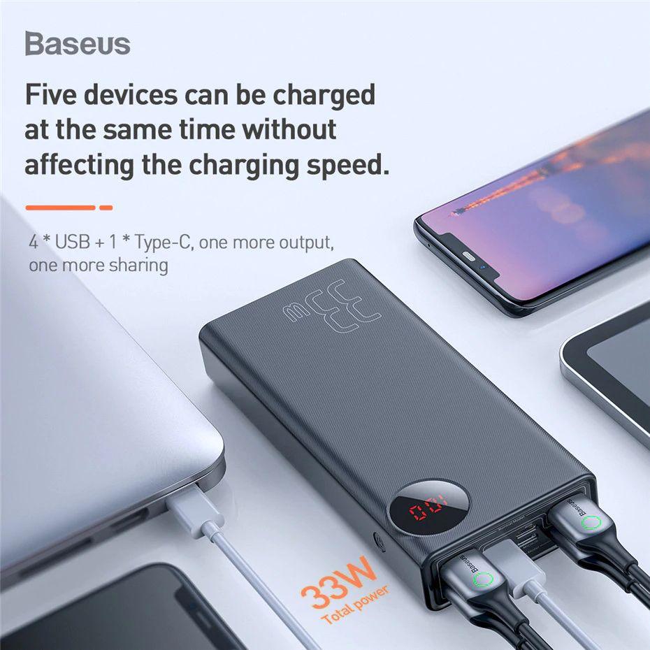Baseus 30000mah Power Bank Dual Quick Charge 3 (7)
