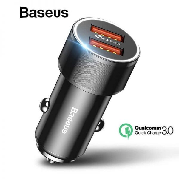 Baseus 36w Dual Usb Quick Charge Qc 3 0 Car Charger (2)