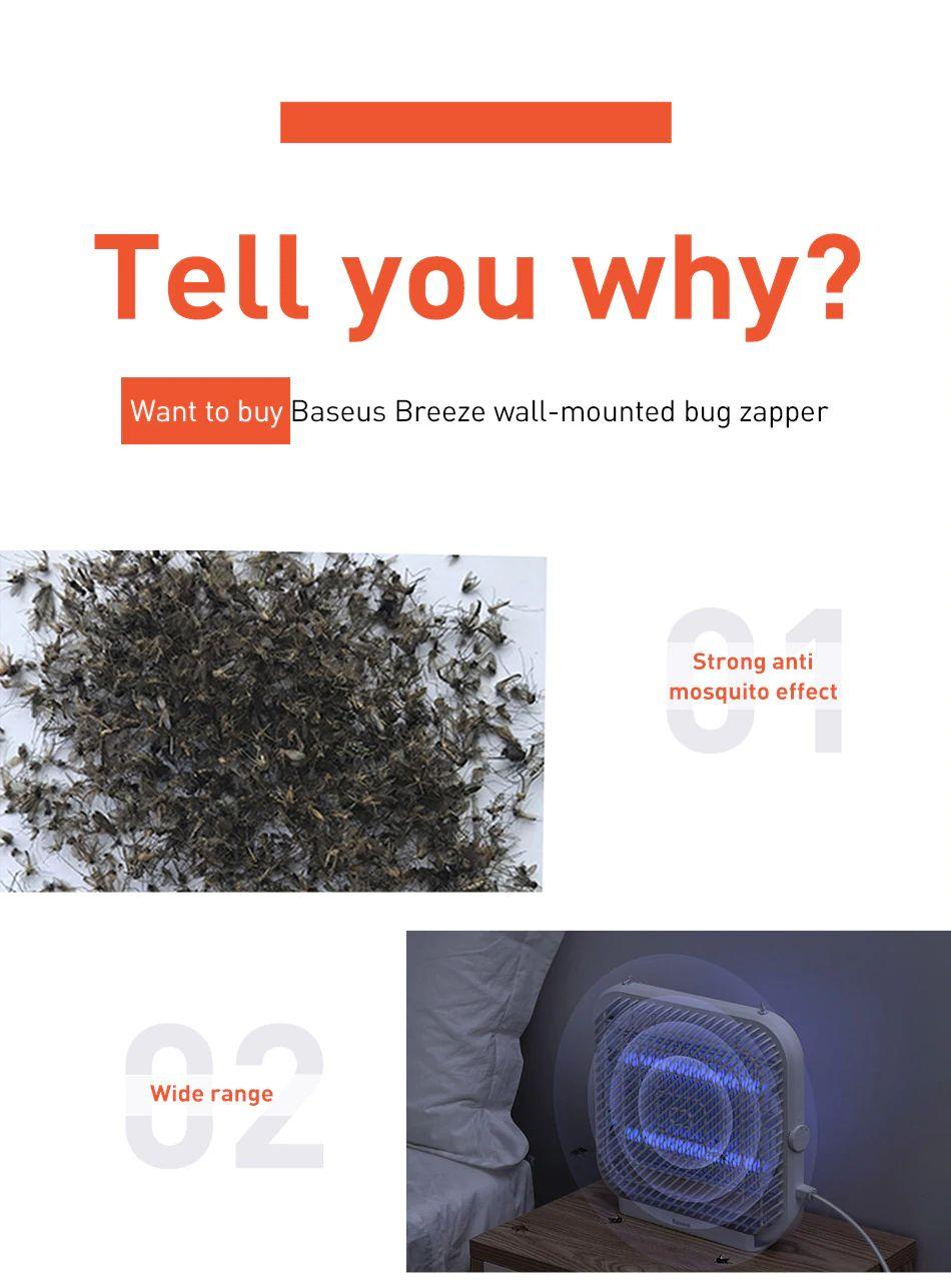 Baseus Breeze Wall Mounted Bug Zapper Electric Mosquito Killer Lamp (17)