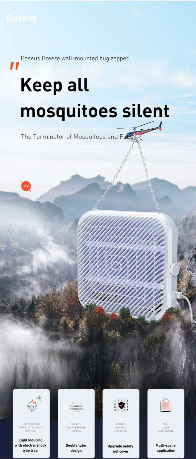 Baseus Breeze Wall Mounted Bug Zapper Electric Mosquito Killer Lamp (18)