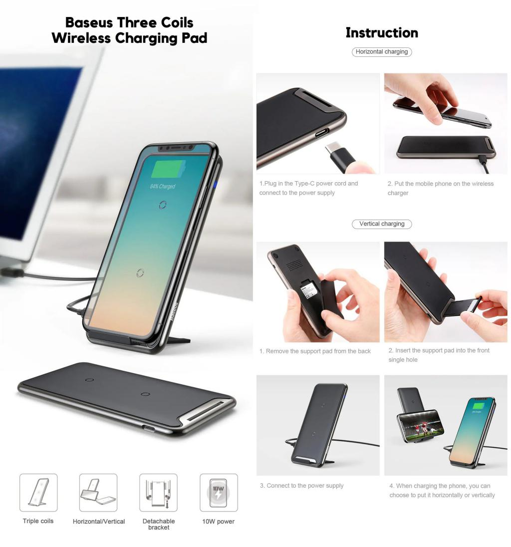 Baseus Bswc P03 Three Coils Wireless Charging Pad (5)