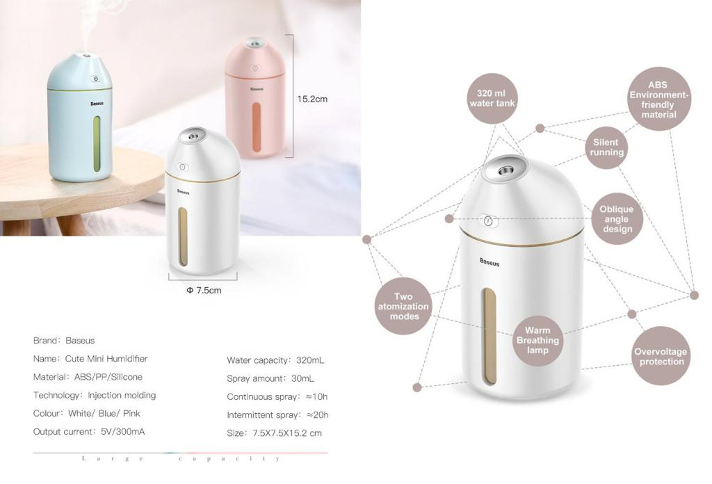 Baseus C9 Cute Mini Humidifier (2)