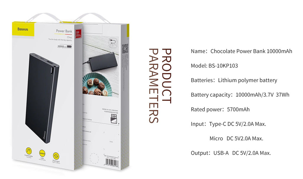Baseus Choc Ultra Slim 10000mah Power Bank (4)