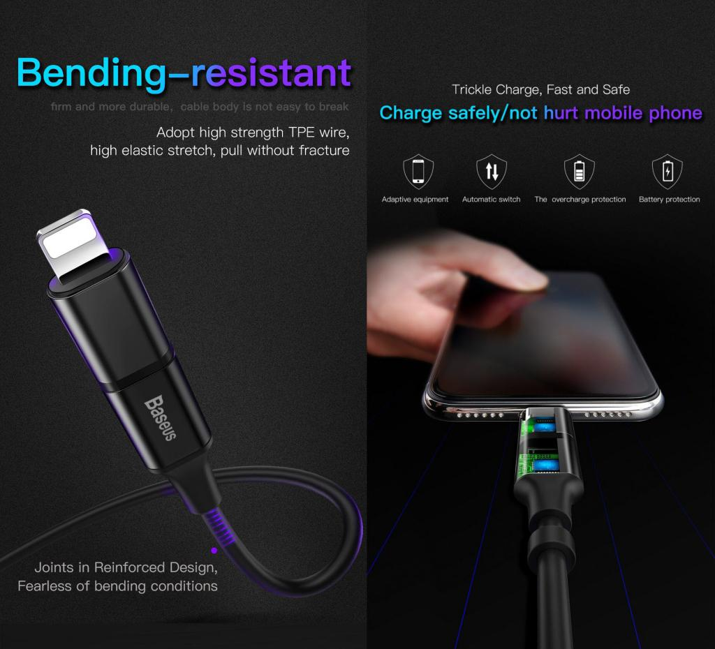 Baseus Excellent 3 In 1 Cable Lightning Type C Microusb (6)