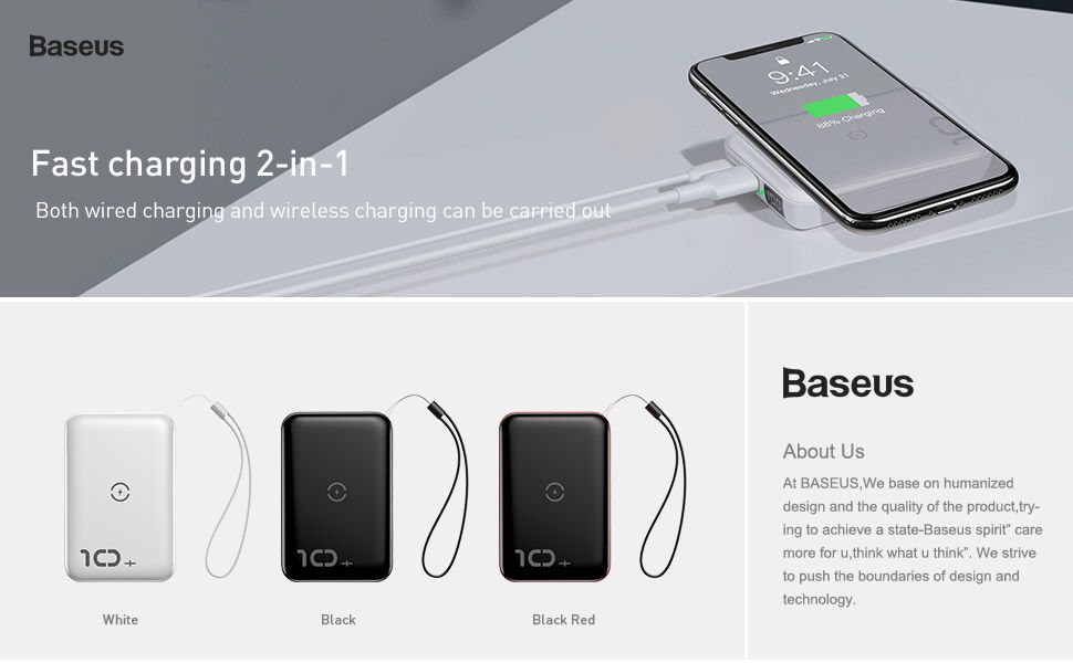 Baseus F10w Wireless Fast Charging Power Bank 10000mah Pd Quick Charge 3 (1)