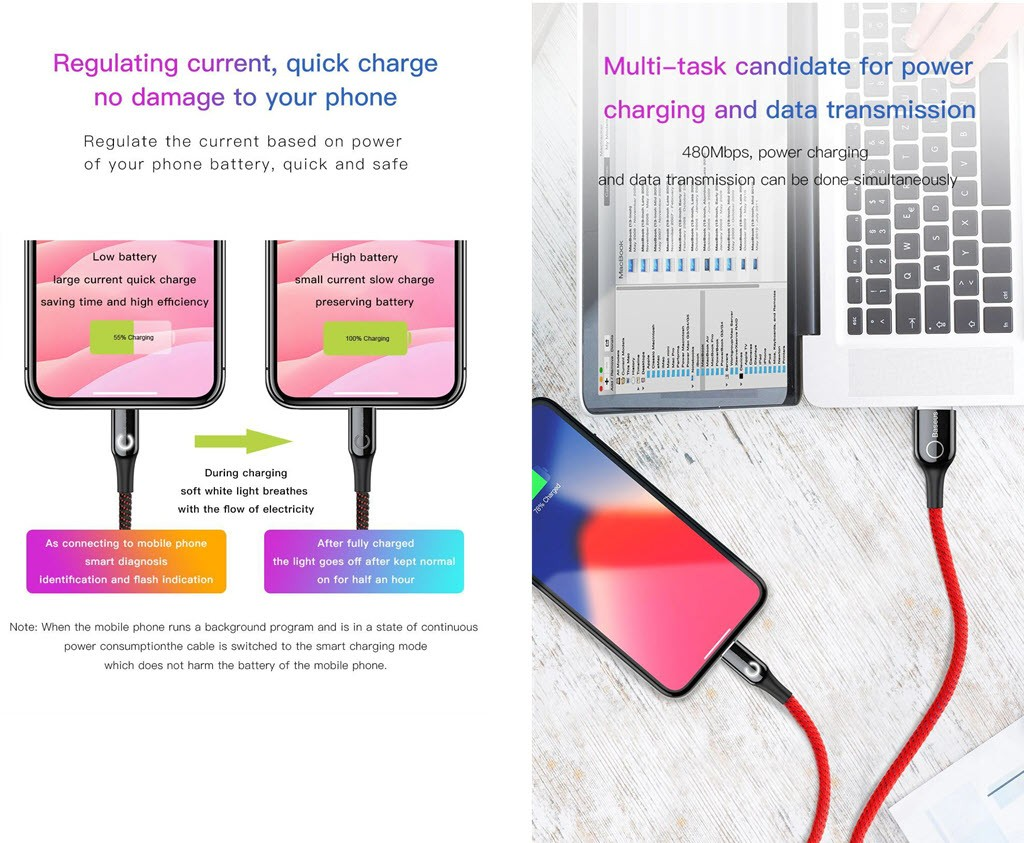 Baseus Intelligent Power Off Usb Charging Cable For Iphone Ipad (2)