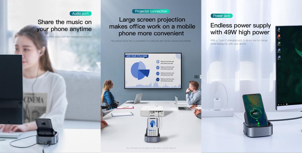 Baseus Mate Docking Type C Mobile Phone Intelligent Hub Expanded Socket (2)