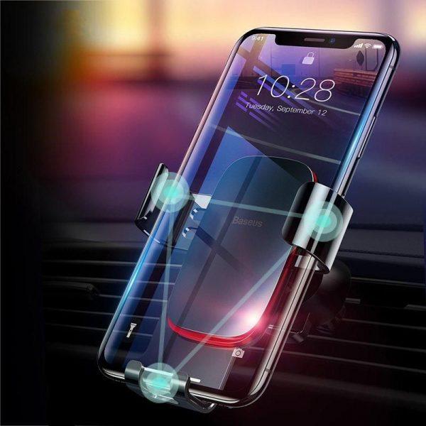 Baseus Metal Age Gravity Car Air Outlet Phone Mount Holder (2)