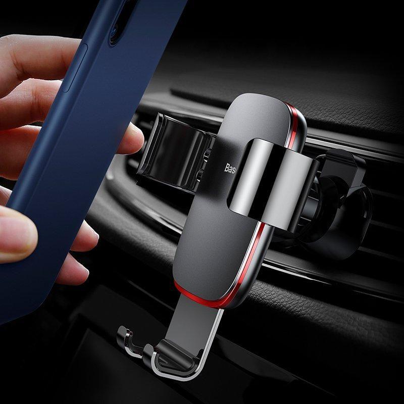 Baseus Metal Age Gravity Car Air Outlet Phone Mount Holder (5)