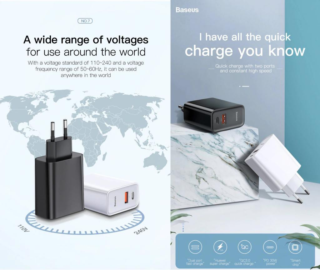 Baseus Quick Charge 4 30w Usb Charger (1)