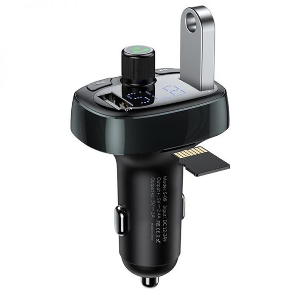 Baseus S 09 T Typed Dual Usb Bluetooth Mp3 Car Charger (7)
