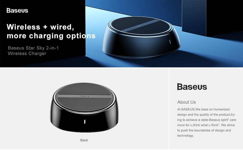 Baseus Star Sky 2 In 1 Desktop Wired 3 Usb Ports Wireless Charger (1)
