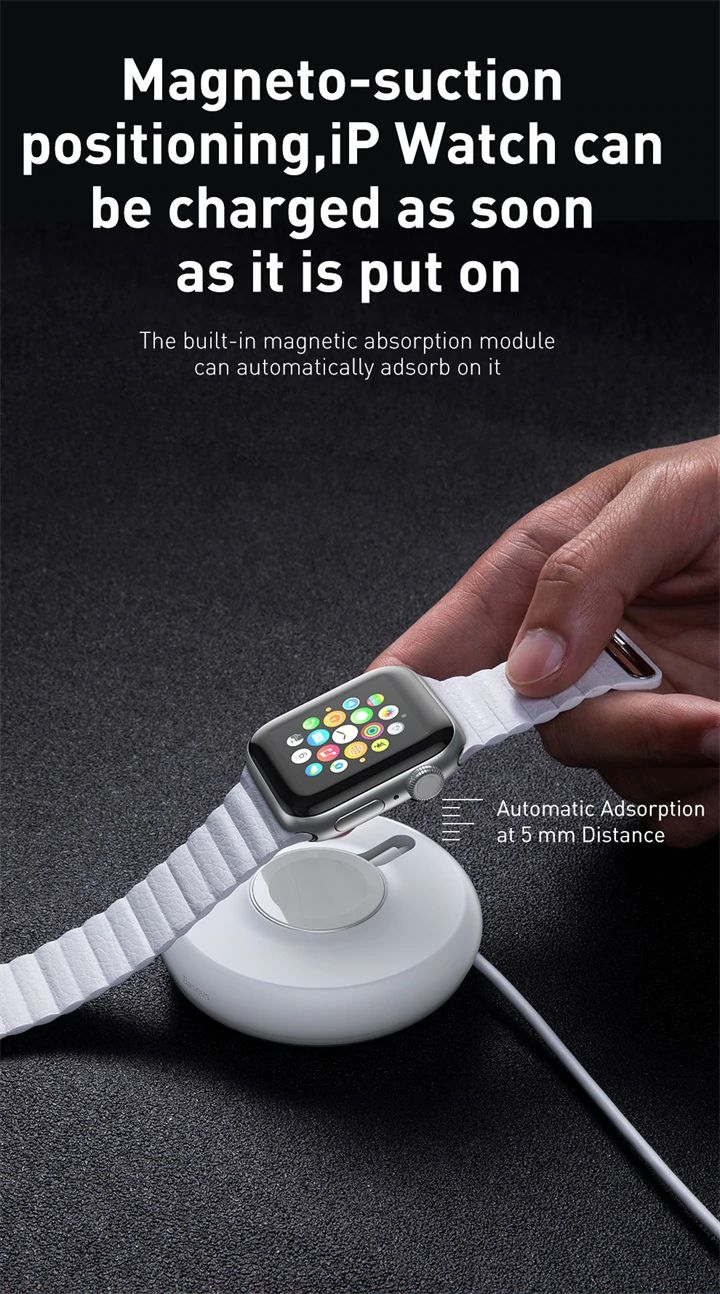 Baseus Yoyo Wireless Charger For Apple Watch Series 4 3 2 With 1m Usb Cable (5)