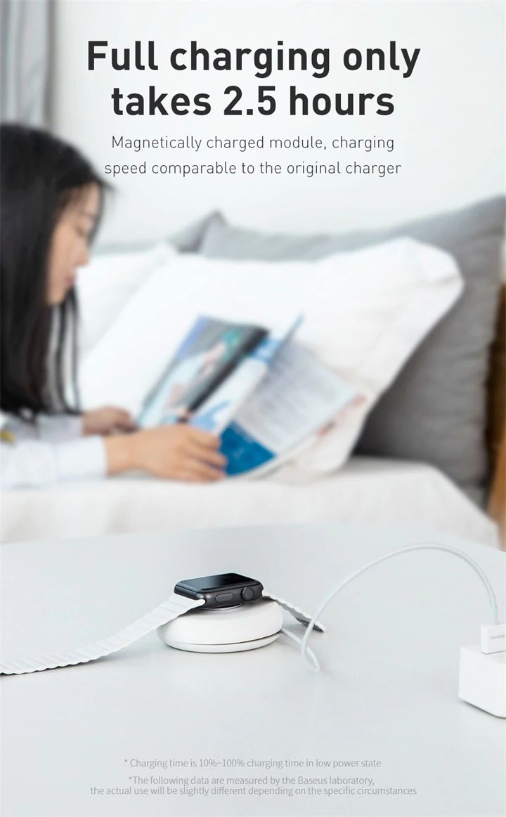 Baseus Yoyo Wireless Charger For Apple Watch Series 4 3 2 With 1m Usb Cable (7)