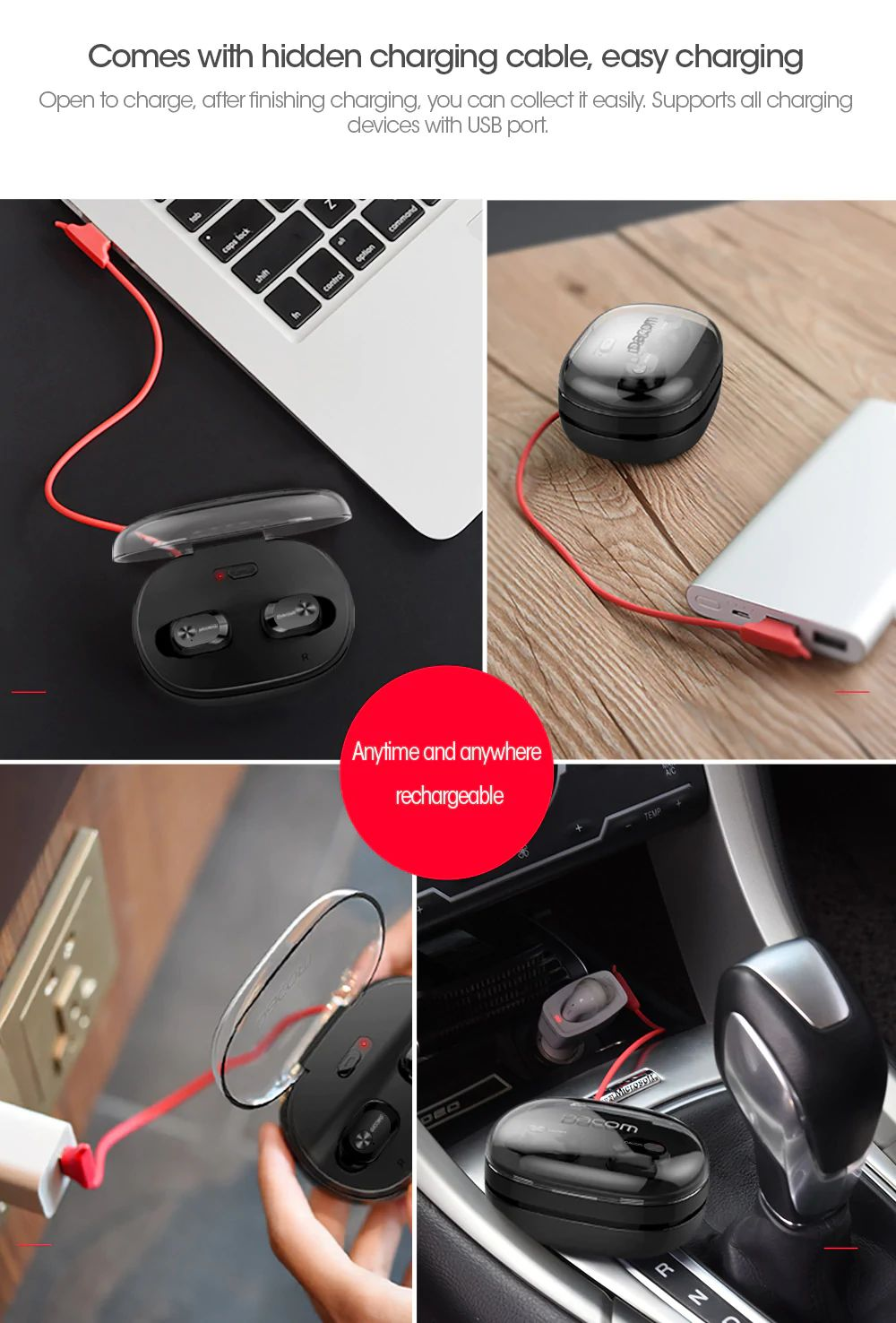 Dacom K6h Pro Tws Earphone Bluetooth Earbuds (7)