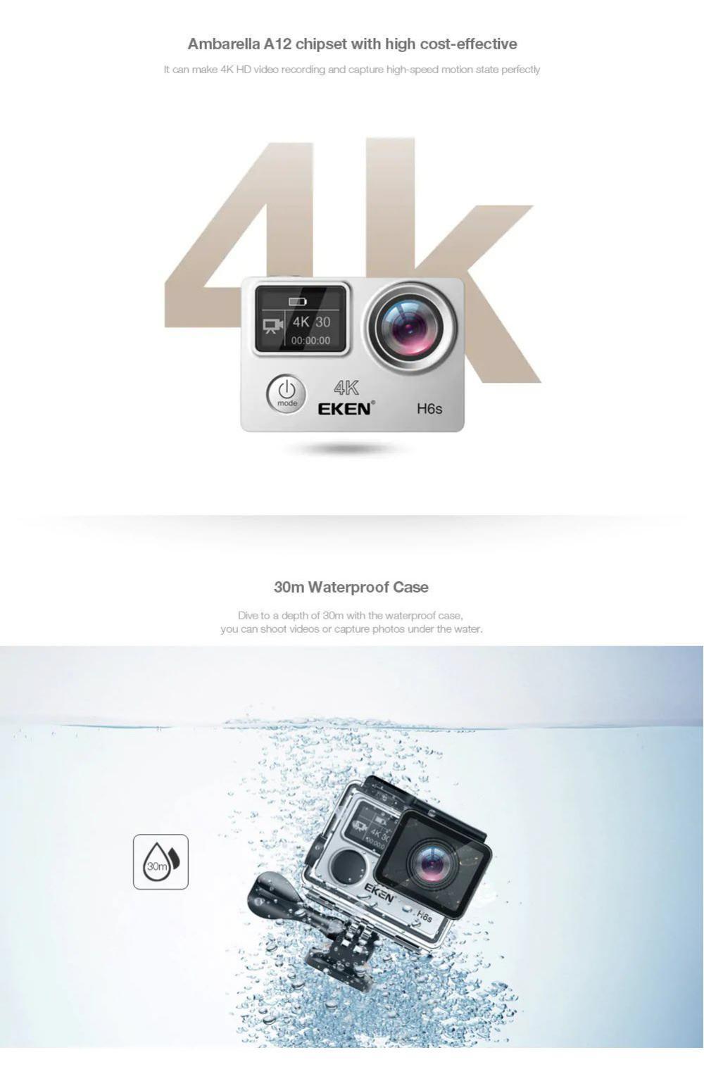 Eken H6s Sports Action Camera Eis 4k (1)