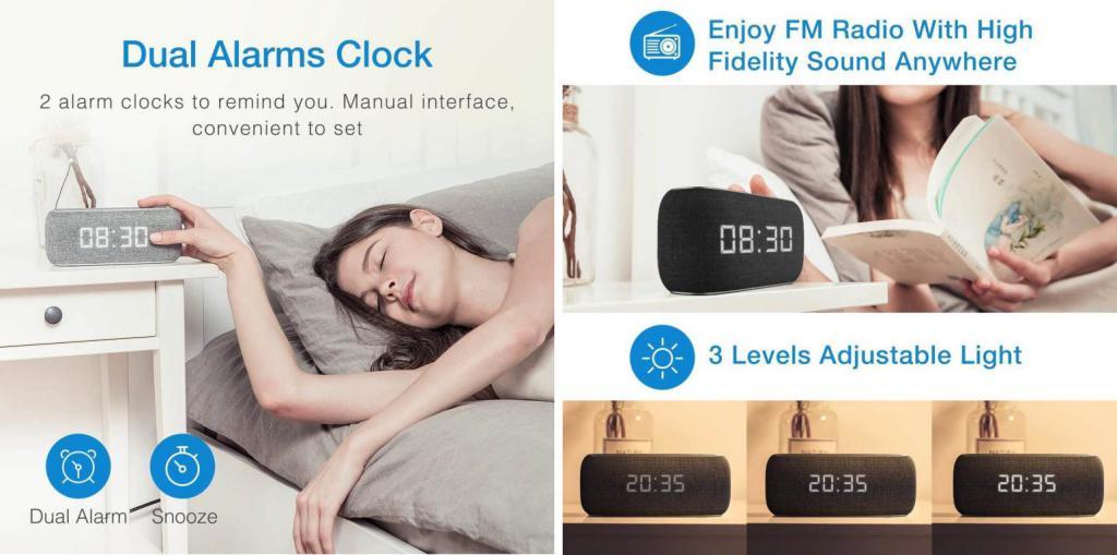 Havit M29 Bluetooth Speaker With Radio And Clock (5)