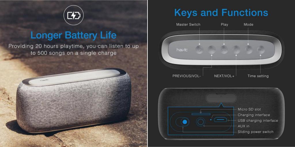 Havit M29 Bluetooth Speaker With Radio And Clock (7)