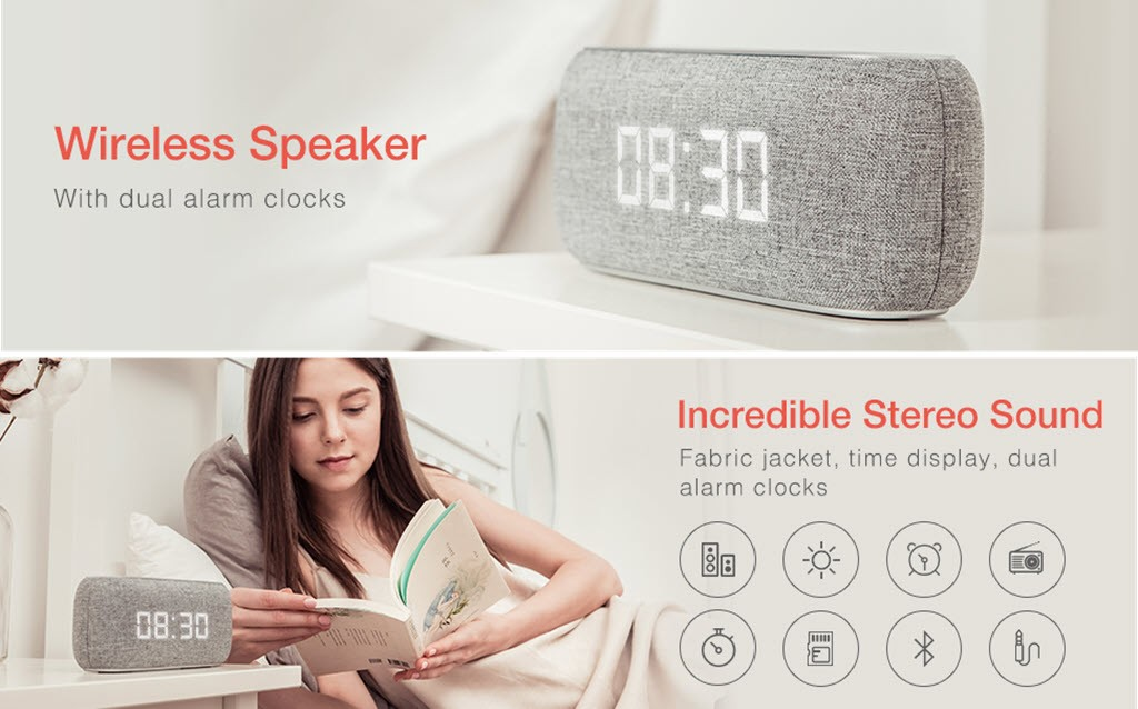 Havit M29 Bluetooth Speaker With Radio And Clock