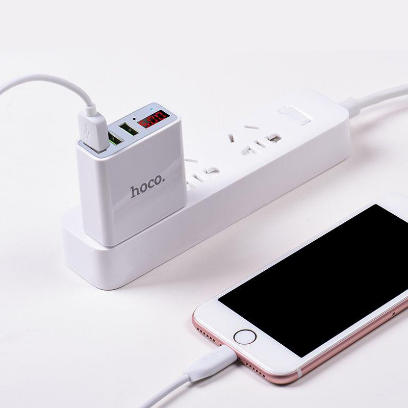 Hoco C15 3a Digital Led Voltage 3 Usb Ports (1)