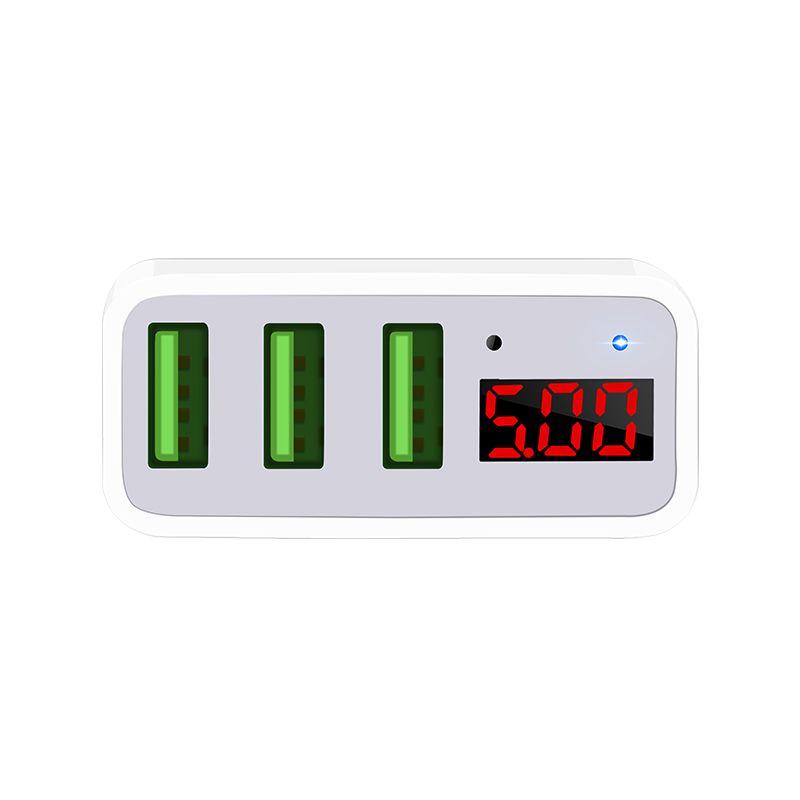Hoco C15 3a Digital Led Voltage 3 Usb Ports (2)