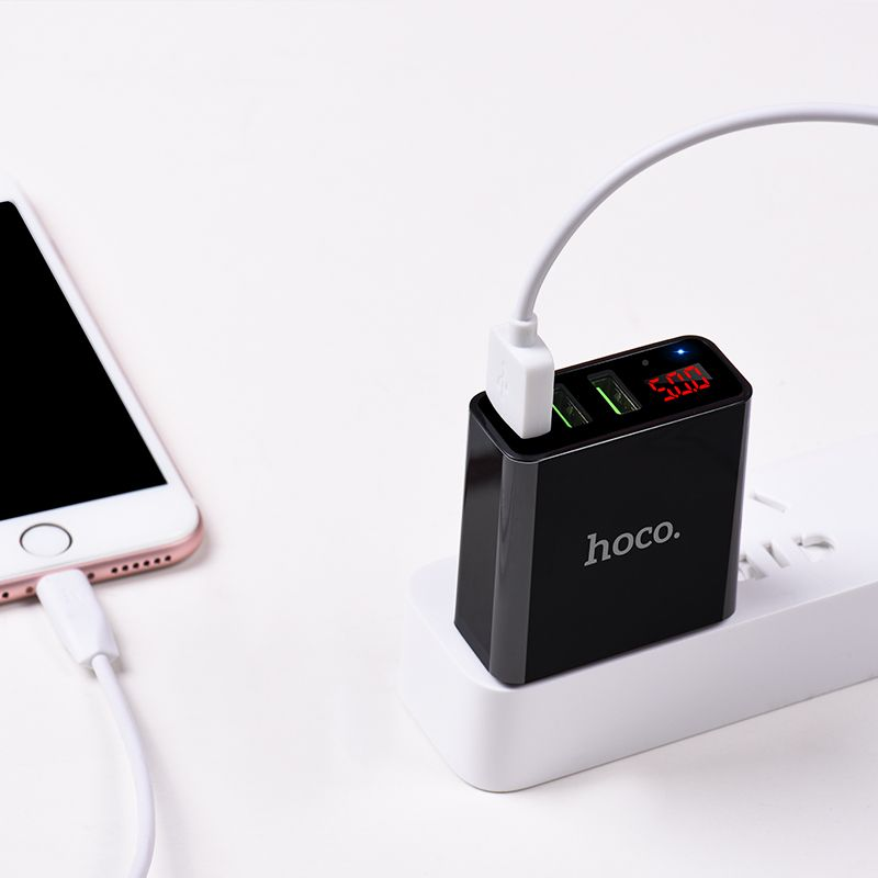 Hoco C15 3a Digital Led Voltage 3 Usb Ports (3)