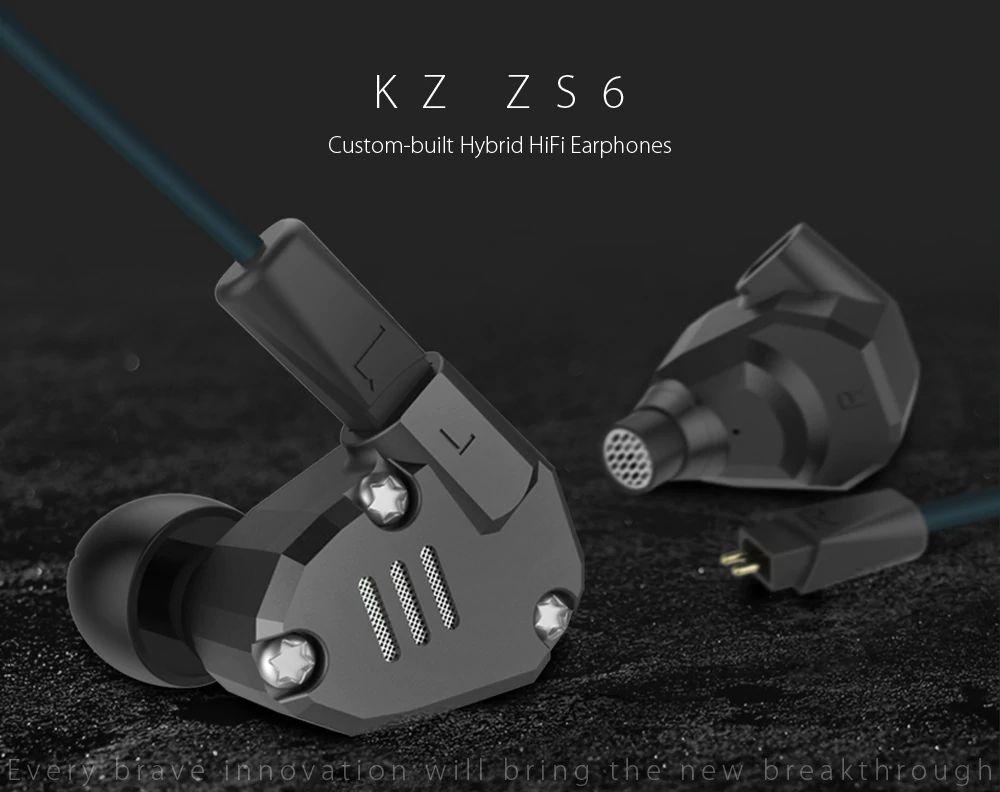 Kz Zs6 Hifi Dual Balanced Driver Earphones (10)