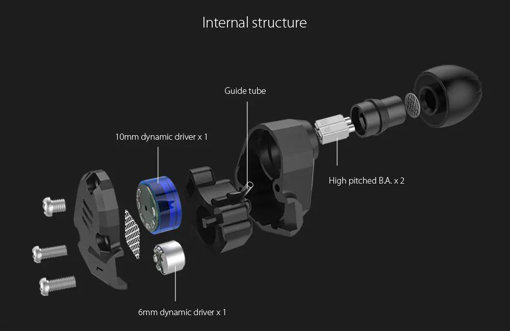 Kz Zs6 Hifi Dual Balanced Driver Earphones (5)