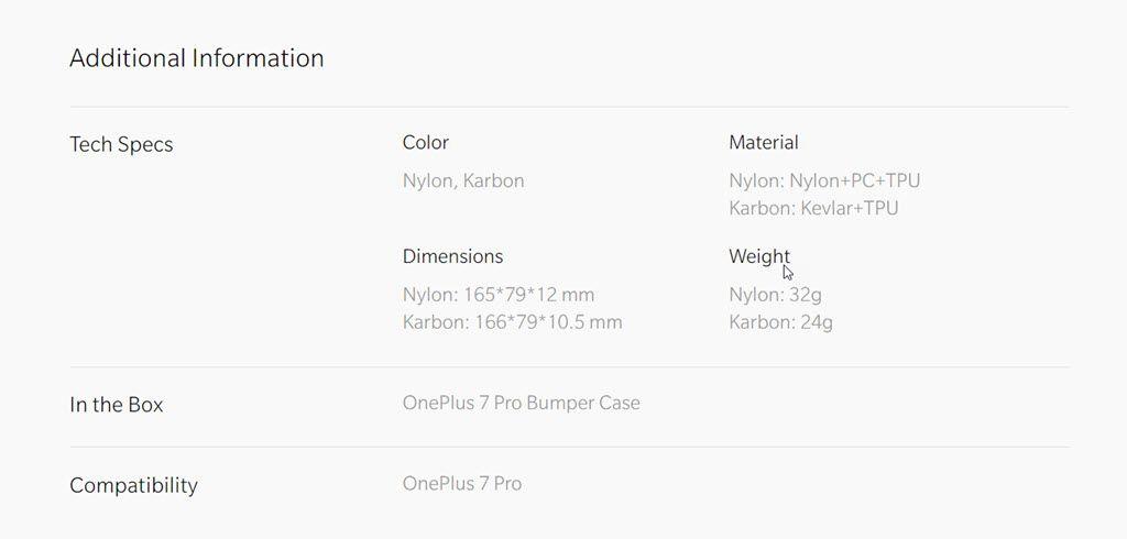 Oneplus 7 Pro Nylon Bumper Case (3)