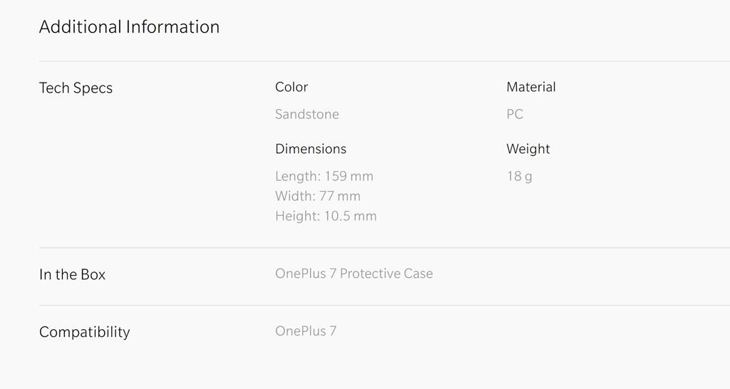 Oneplus 7 Sandstone Protective Case (3)
