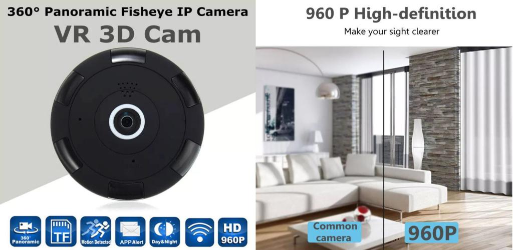 Panoramic Ip Camera 360 Degree Fisheye Security Camera 960p (3)