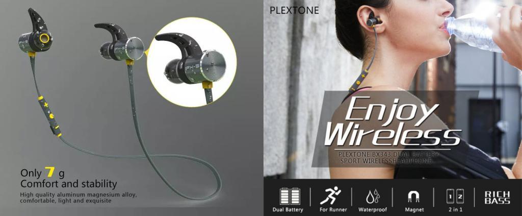 Plextone Bx343 Ipx5 Waterproof Magnetic Wireless Earphones (1)