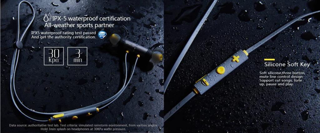 Plextone Bx343 Ipx5 Waterproof Magnetic Wireless Earphones (2)